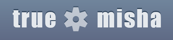 логотип truemisha.ru в масштабе 400%