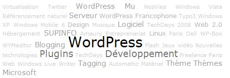 облако тегов или категорий в WordPress