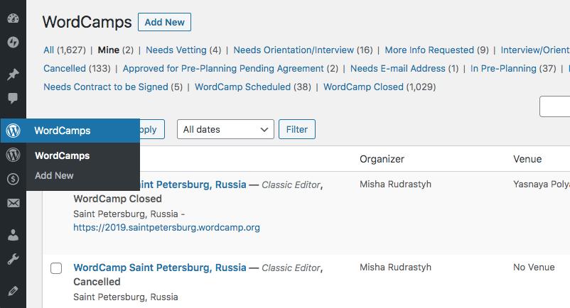 Отменённый WordCamp Санкт-Петербург