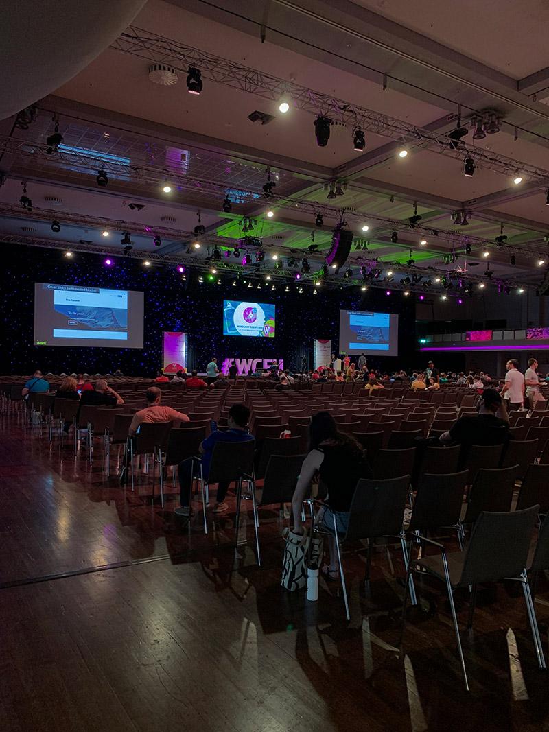 Самый большой зал на конференции WordCamp Europe в Берлине